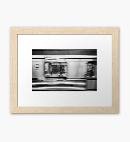 Passing Los Angeles Metro Train Framed Print