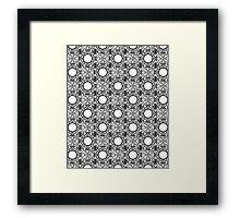 Black and White Mandala Pattern Framed Print