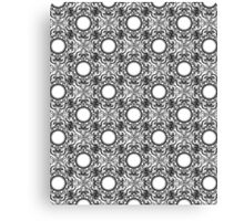 Black and White Mandala Pattern Canvas Print