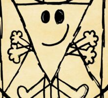THE VITRUVIAN MR. MAN Sticker