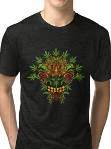 Psychedelic cannabis jungle demon Tri-blend T-Shirt