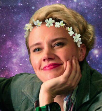 Jillian Holtzmann Ghostbusters Galaxy  Sticker