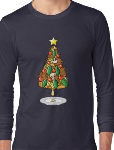Funny Pizza Lover Christmas Tree Food Costumes T-Shirt Long Sleeve T-Shirt