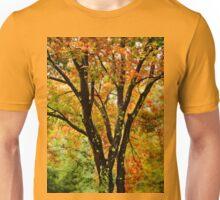 Fall colored tree Unisex T-Shirt