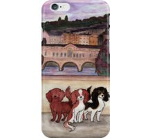 Bath Cavalier King Charles Spaniels iPhone Case/Skin