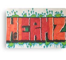 Graphic graffiti hermz Canvas Print