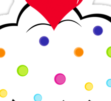 I ♥ Cupcakes Sticker