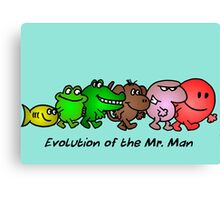 EVOLUTION OF THE MR. MAN Canvas Print
