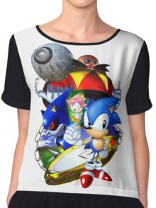 Sonic CD - Sonic the Hedgehog Chiffon Top