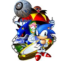 Sonic CD - Sonic the Hedgehog Photographic Print