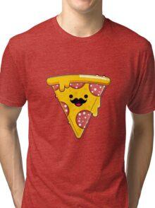 I Moustache Pizza Tri-blend T-Shirt