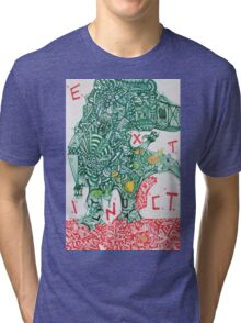 EXTINCT - LARGE FORMAT - VERTICAL Tri-blend T-Shirt