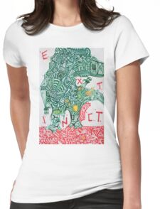 EXTINCT - LARGE FORMAT - VERTICAL Womens Fitted T-Shirt