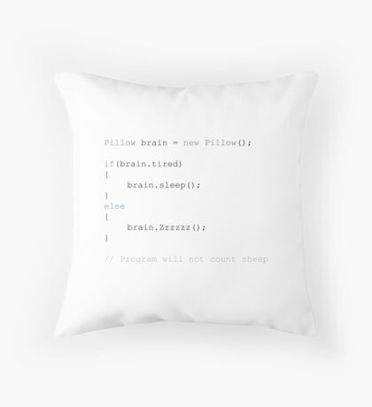 Run Sleep Script Throw Pillow