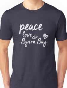 peace, love & Byron Bay Unisex T-Shirt