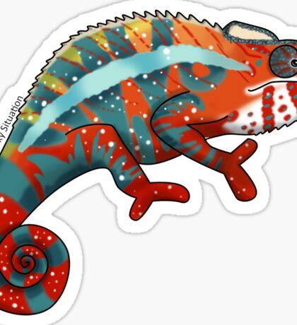 Panther Chameleon Sticker