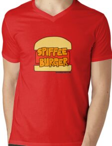 Autumn Bay - Spiffee Burger Mens V-Neck T-Shirt