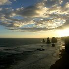 "Clouds circling ""The Twelve Apostles"" by Chris Chalk"