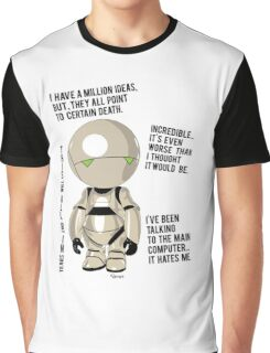 Marvin  the pessimist robot Graphic T-Shirt