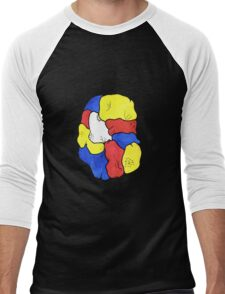 Morphed Mondrian Men's Baseball ¾ T-Shirt