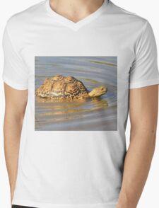 Tortoise Summer Swim - Natural Fun Mens V-Neck T-Shirt