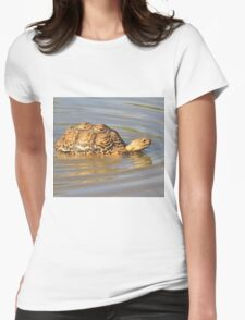Tortoise Summer Swim - Natural Fun Womens Fitted T-Shirt