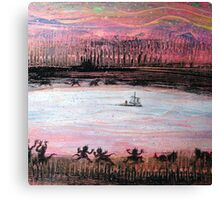 Monsters Onshore Canvas Print
