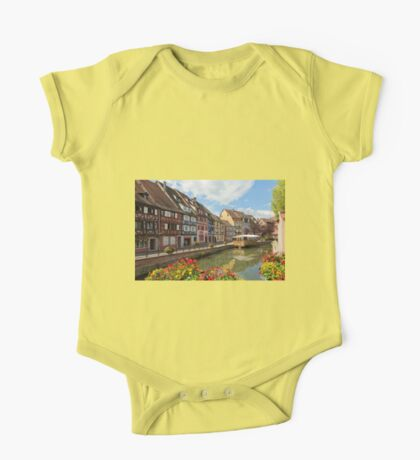Colorful Buildings in the Fishmongers' District One Piece - Short Sleeve