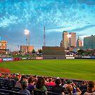 Oneok Stadium, Tulsa Drillers, Tulsa Skyline Photo, Tulsa Art, Best Tulsa Photos by Gregory Ballos | gregoryballosphoto.com