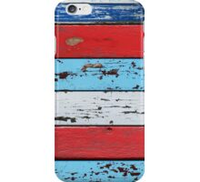 Multicolored Wooden Planks iPhone Case/Skin