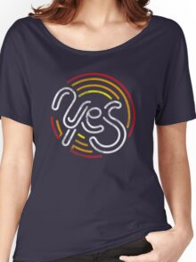 Yes - Retro Typographic Art Women's Relaxed Fit T-Shirt