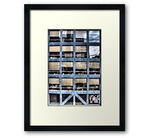 Cube farm Framed Print