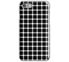 Optical illusion black grid with white dots iPhone Case/Skin