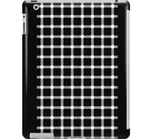 Optical illusion black grid with white dots iPad Case/Skin
