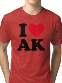 I Love AK Alaska Tri-blend T-Shirt