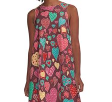 The pattern in the heart. Valentine's Day A-Line Dress