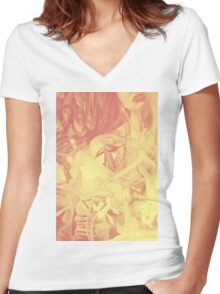 In the shadow of your heart, 120-80cm, 2016, oil on canvas Women's Fitted V-Neck T-Shirt