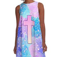 Vanilla cross A-Line Dress