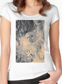 In the shadow of your heart, 120-80cm, 2016, oil on canvas Women's Fitted Scoop T-Shirt