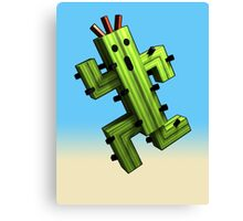 Cactuar Craft Canvas Print