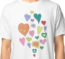 The pattern in the heart. Valentine's Day Classic T-Shirt