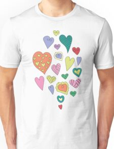 The pattern in the heart. Valentine's Day Unisex T-Shirt
