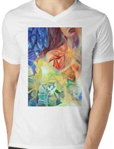 In the shadow of your heart, 120-80cm, 2016, oil on canvas Mens V-Neck T-Shirt