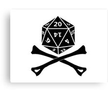 D20 PIRATE Canvas Print