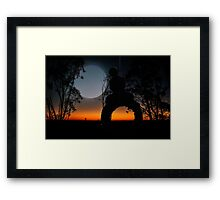 Swinging with the stars Framed Print