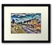 Country railstation - Dunedoo, Australia Framed Print