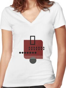 Abstract pattern Women's Fitted V-Neck T-Shirt