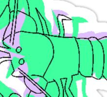 Abstract Green Lobster Sticker