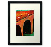 Under the bridge Homeless  Framed Print
