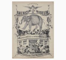 240 Humbug's American Museum On side of elephant Have you seen the on side of balcony on which a number of negro minstrels curiosities oddities of Gotham country life politics Baby Tee